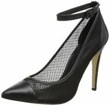 BCBGENERATION BCBG Shoes Cynthia Mesh Pump Stiletto Ankle Strap Heels 8