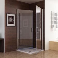 Duschkabine 180° Schwingtür Duschwand Duschabtrennung NANO Glas Eckeinstieg 195
