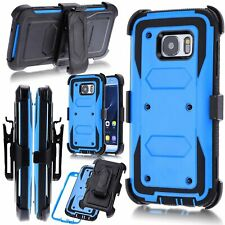 360° Shockproof Heavy Duty Armor Clip Case Cover for Samsung Galaxy S7 S6 Edge