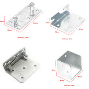 10 piece set Bed Brackets Fittings - Centre Support Cubes Hook Hinge Connectors