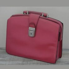 Bosca Pink Leather Gladstone Style Compact/ Mini-Briefcase Lockable