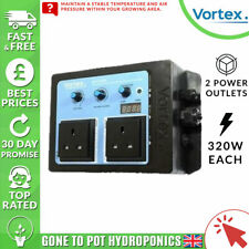 Vortex Twin Speed Fan Controller Thermostatic Temperature Adjustable Dual Outlet
