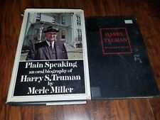 Lot of 2 Biographies of Harry S. Truman, Plain speaking by Merle Miller, Helm