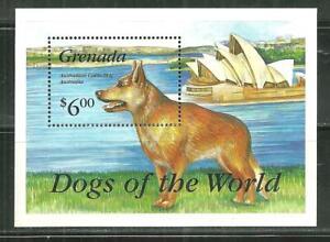 GRENADA MNH SOUVENIR SHEET AUSTRALIAN CATTLE DOG