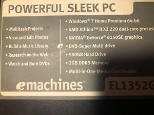 eMachines EL1360G-UW10P (250GB, AMD E300, 1.3GHz, 2GB) PC Desktop - PT.ND5P2.001