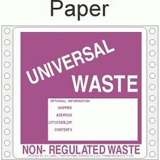 Universal Waste Paper Labels HWL615P (PACK OF 500)
