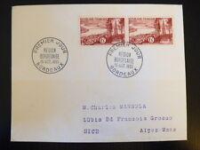 FRANCE PREMIER JOUR FDC YVERT 1036   REGION BORDELAISE   2X6F    BORDEAUX   1955