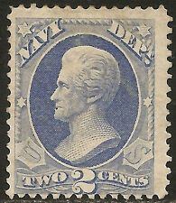US# O36 Mint 2c Andrew Jackson Navy Dept. Official Mail NG CV$95 with no gum