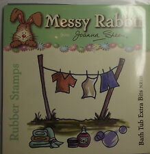 Bath Tub Extra Bits- MR115 Messy Rabbit Un-mounted Rubber Stamps by Joanna Sheen