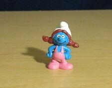 Sassette Smurfling Dark Red Hair Smurf Girl Figure Classic Vintage Toy Lot 20404