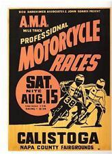 Calistoga AMA flat track REPRO race vintage poster