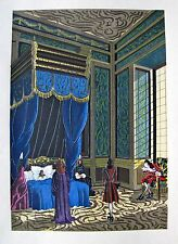 JEAN GRADASSI Memoirs of Cardinal Dubois 1950 Color Illustration Dying Queen
