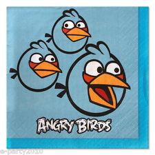 (16) ANGRY BIRDS SMALL NAPKINS ~ Children's Birthday Party Supplies