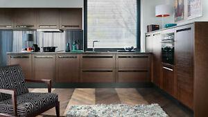 Küche, Küchenzeile 300 cm, Einbauküche Echtholzfurnier Fronten - erweiterbar !