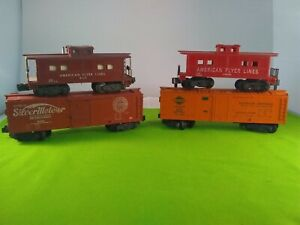 Vintage American Flyer Lines Reading Caboose #930 AND  3 others!!!!   N I C E