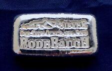 Rodebaugh ( Low Vein ) 1 Ounce  Poured Bar Ingot  999 Fine Silver