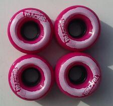 TRACKER Skateboard Wheels 62mm X 38MM PUNK PINK / WHITE 95A (310)