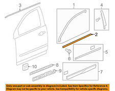GM OEM-Door Window Sweep-Belt Molding Weatherstrip Left 20940630