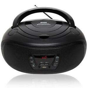 CD Player Boombox USB CD MP3 FM Radio GTCD-501 Black with AUX-IN