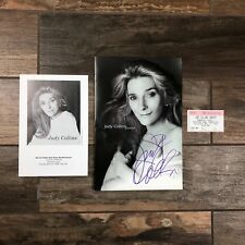 Judy Collins Autograph Booklet Signed Plus Event Ticket Dated.     M19