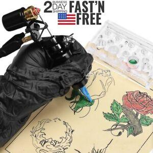Complete Rotary Tattoo Machine Motor Kit Guns Cartridge Professional Supply Kit