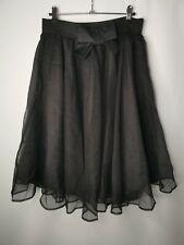 DARLING London Black Tulle Midi Skirt Size 14 Goth Halloween Party Tutu