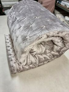 John Lewis Boutique Hotel Velvet Stitch Throw 280×260 Cool Grey bedspread £250