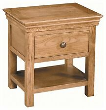Bordeaux French Solid Oak 1 Drawer Bedside Cabinet / Nightstand