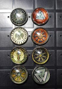 Badges/Pins Viking 8 Styles D&D RPG