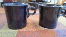 Cobalt Blue Fiestaware Mug Cup Homer Laughlin Co USA Fiesta Set of Two
