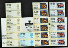 BPMA MACHIN Ma13 & 2nd CLASS Ma12 & FLAG undated & LION 4x STRIPS B9GB15 Post Go