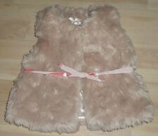 1 1/2 - 2 YEARS NUDE/PINK FAUX FUR GILET, MARKS AND SPENCER, WAISTCOAT, NWOT