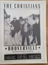 CHRISTIANS Hooverville 1987 magazine ADVERT/Poster/clipping 11x8 inches