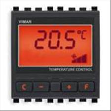 VIMAR EIKON THERMOSTAT FOR FAN-COIL GREY 20513