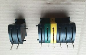 Pair of Hornby contact switch point motors bank of 6 & twin lever