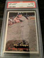 1957 Topps Baseball #260 Del Ennis PSA 6 EX-MT St. Louis Cardinals