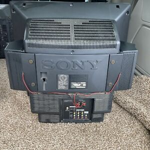 "Sony Trinitron KV-27EXR25 27"" CRT Tube TV Retro Gaming Television Remote 1992 A+"