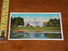 Postcard Vintage White House South Front Washington Dc
