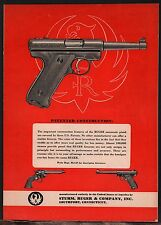 1954 Ruger Automatic Pistol Ad Vintage Firearms Advertising