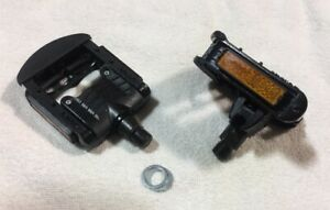 Wellgo folding pedals, Pair, alloy cage,