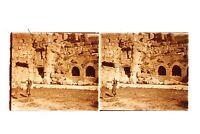 Baalbek? Líbano Foto Placa De Cristal Estéreo Positivo Vintage 6x13 CM