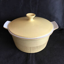 Cleopatra by FRIS Holland Mid-Century Pottery 2 1/4 Qt Covered Casserole Yellow