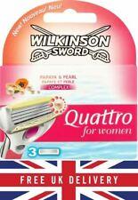 Wilkinson Sword Quattro for Women Papaya & Pearl Razor Blades 3 6 9 pack