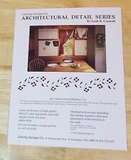 Dogwood border wall stencil kit Leah R. Caswell Architectural Detail Series book