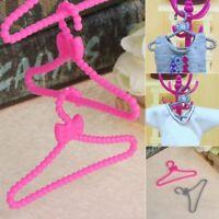 10 Pcs Doll Clothes Hanger Holder For Barbie House Dress Accessories Imagination