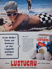 PUBLICITÉ DE PRESSE 1966 MACARONI COUPÉS LUSTUCRU AUX OEUFS FRAIS - ADVERTISING