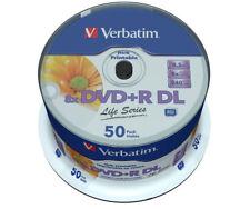 DVD+R DL Verbatim 8,5GB 50pcs Printable ** 97693