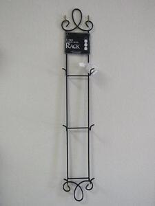 "Tripar Augusta Vertical Black Wall Display Rack, Three 6.5""–8.25"" Plates, 33.75"""
