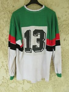 Maillot rugby vintage porté numéro cousu Société Générale années 80 90 5 XL