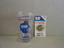 Ny Giants Drinking Glass and Pin